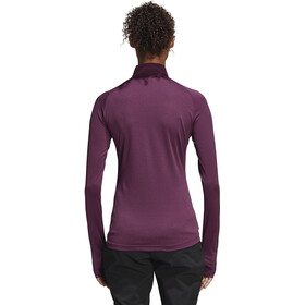 adidas TERREX TraceRocker Tee LS 1/2 Zip Women Red Night